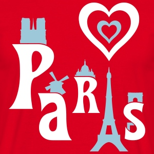 I Love Paris T-shirts - Herre-T-shirt