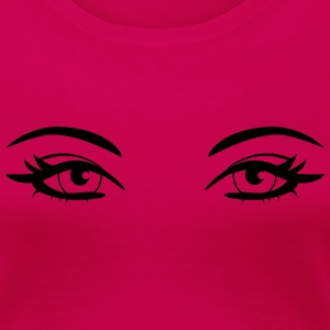 pretty_eyes T-shirts - Dame premium T-shirt