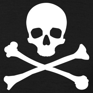 Black Skull & Crossbones Men's T-Shirts - Men's T-Shirt