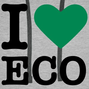 Green heart / I love Ecology Hoodies & Sweatshirts - Men's Premium Hoodie