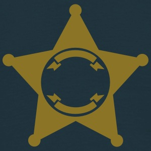 Sheriff Star, your text, Old West, Wild, America, T-Shirts - Men's T-Shirt
