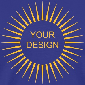 Rays,wreath, sun, your design, frame, text T-Shirts - Men's Premium T-Shirt