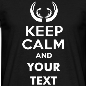 keep_calm_and_wild_boar_text T-Shirts - Men's T-Shirt