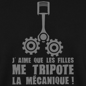 aime fille tripote mecanique piston expr Sweat-shirts - Sweat-shirt Homme