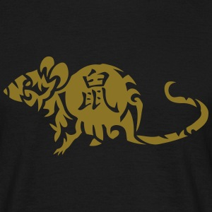 rat signe astrologique 2 chinois Tee shirts - T-shirt Homme