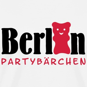 Berlin Partybärchen / Berlin party bear (2c) T-Shirts - Männer Premium T-Shirt