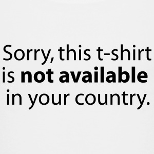 not available in your country T-shirts - Premium-T-shirt tonåring