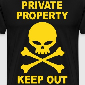 private property keep out T-Shirts - Men's Premium T-Shirt