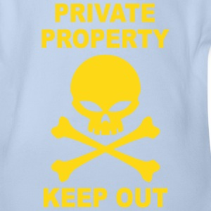 private property keep out Shirts - Organic Short-sleeved Baby Bodysuit