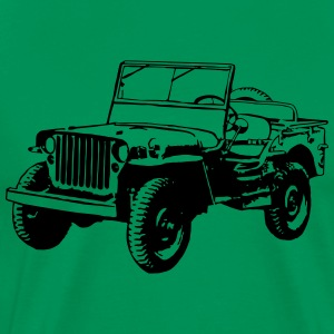 T-shirt: Willys Jeep - Men's Premium T-Shirt