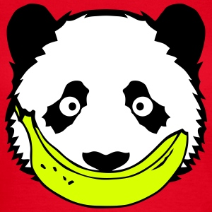 panda sourire banane 2 smiley face Tee shirts - T-shirt Femme