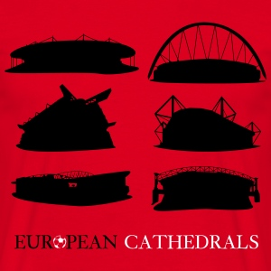 European football cathedrals  T-Shirts - Men's T-Shirt
