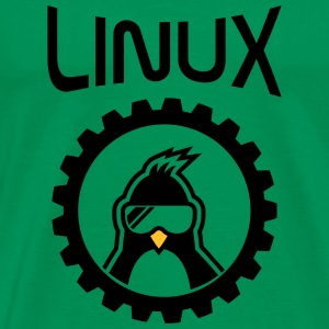linux wheel T-Shirts - Men's Premium T-Shirt