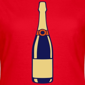 champagne bouteille bottle alcool 2706 Tee shirts - T-shirt Femme