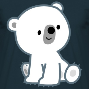 Cute Curious Polar Bear Cub by Cheerful Madness!! T-Shirts - Men's T-Shirt