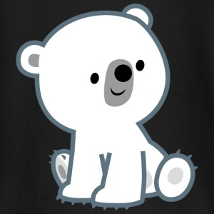 Cute Curious Polar Bear Cub by Cheerful Madness!! Kids & Babies - Baby Long Sleeve T-Shirt