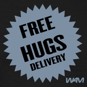 Schwarz free hugs delivery by wam T-Shirts - Männer T-Shirt