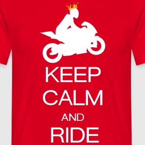keep calm and ride T-shirts - Mannen T-shirt