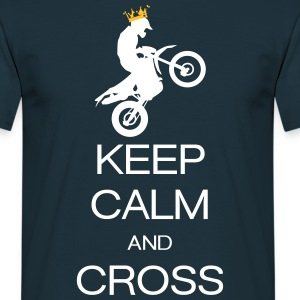 keep calm and cross T-skjorter - T-skjorte for menn