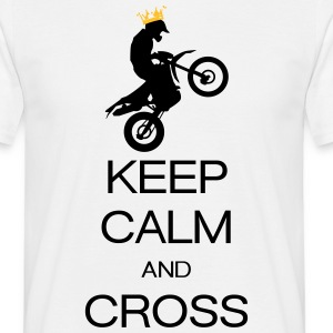 keep calm and cross Tee shirts - T-shirt Homme
