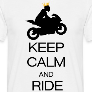 keep calm and ride T-skjorter - T-skjorte for menn