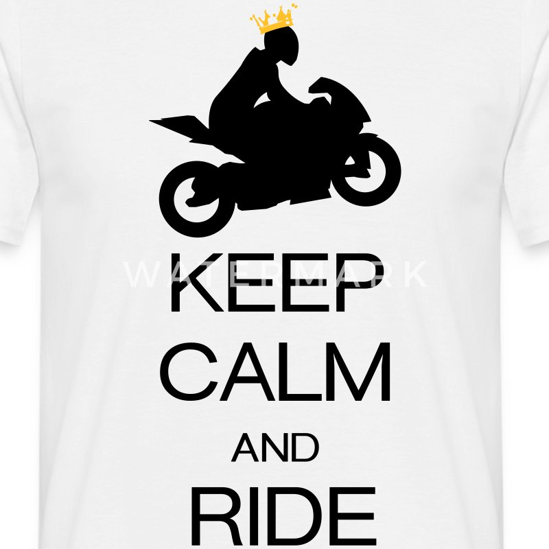 keep calm and ride Tee shirts - T-shirt Homme
