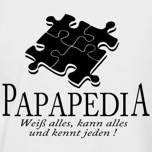 PapaPedia - Männer Baseball-T-Shirt