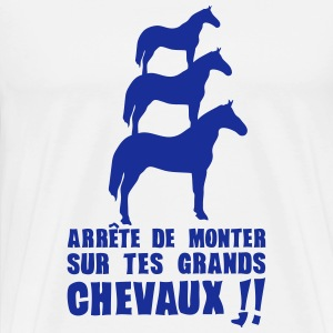 arrete monter grands chevaux expression Tee shirts - T-shirt Premium Homme