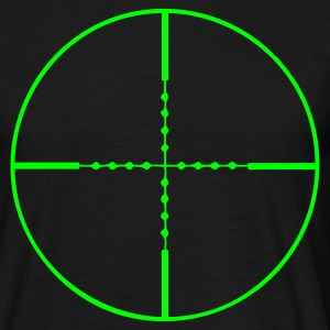 Black Sniper Target Men's Tees - Men's T-Shirt