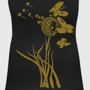 Dandelion , summer, spring , butterfly T-Shirts - Women's Scoop Neck T-Shirt