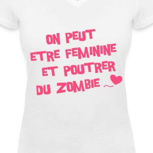 Citation « Suck My Geek » (F) - T-shirt col V Femme