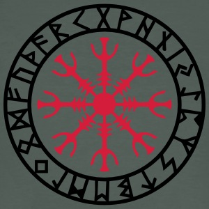 Aegishjalmur, Helm of awe, Sigil, Rune magic T-shirts - Ekologisk T-shirt herr