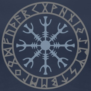 Aegishjalmur, Helm of awe, Sigil, Rune magic T-Shirts - Women's Premium T-Shirt