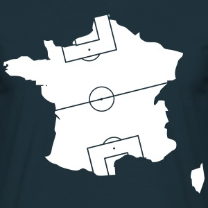 France comme un terrain de football  Tee shirts - T-shirt Homme