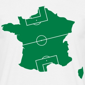 France as a football field  T-Shirts - Men's T-Shirt