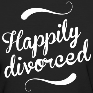 Happily divorced - Women's Organic T-shirt