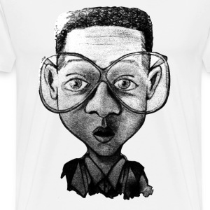White optic nerd T-Shirts - Men's Premium T-Shirt