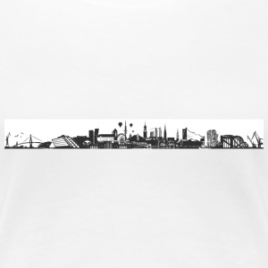 Hamburg_Skyline T-Shirts - Frauen Premium T-Shirt