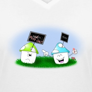 Little Fun Guy T-Shirts - Frauen T-Shirt mit V-Ausschnitt