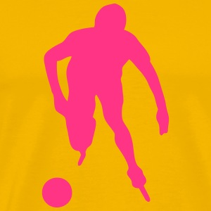 roller foot silhouette soccer 3 Tee shirts - T-shirt Premium Homme