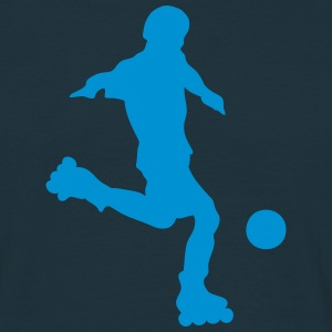 roller foot silhouette soccer 1 Tee shirts - T-shirt Homme