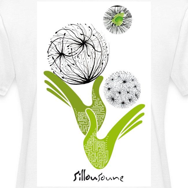 tee-shirt femme Bio mains oxymores