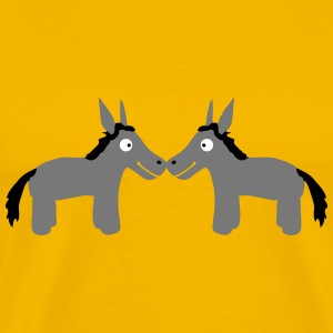 Donkey Couple T-Shirts - Men's Premium T-Shirt