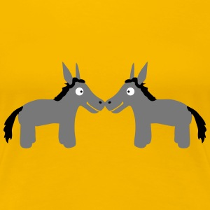 Donkey Couple T-shirts - Vrouwen Premium T-shirt