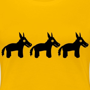 3 Donkeys T-Shirts - Frauen Premium T-Shirt