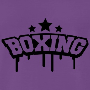 Boxing Stamp T-shirts - Mannen Premium T-shirt