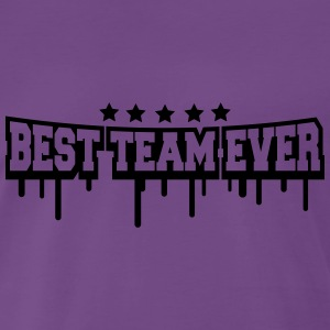 Best Team Ever Stamp T-shirts - Herre premium T-shirt