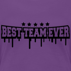 Best Team Ever Stamp T-shirts - Dame premium T-shirt