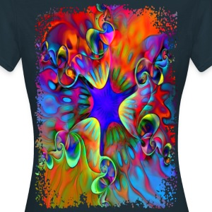 Psychedelic Power Flower - Frauen T-Shirt