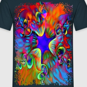 Psychedelic Power Flower - Männer T-Shirt